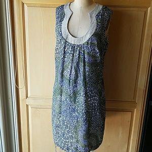 Trina Turk cotton dress with metallic trim